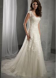 a line wedding dress buy discount tulle scoop neckline waistline a line