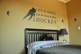 Hockey Room Decor Sports Theme Hockey Stick Kids Room Ideas - Boys hockey bedroom ideas