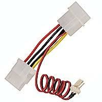 cpu fan 4 pin to 3 pin amazon com 1 x 4 pin molex male to 3 pin cpu fan male and 1 x 4 pin