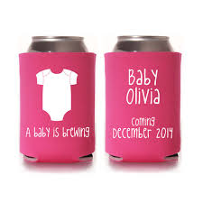 baby shower koozies personalized baby shower koozie favors gender reveal party gifts