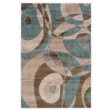 home decor turquoise and brown linon home decor milan collection brown and turquoise 8 ft x 10