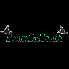 lighted peace on earth sign