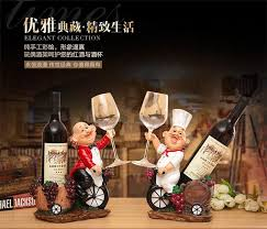 Chef Decor Collection Resin Wine Rack Chef Creative Gift Table Wine Bottle Decor