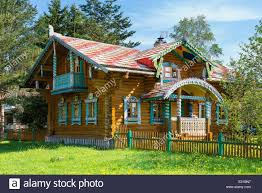 Traditional House Russia Traditional House In Mandrogi Village Stock Photo Royalty