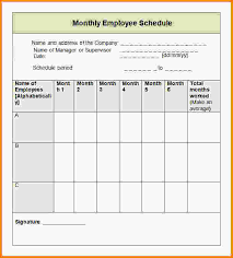 monthly schedule templates employee work schedule template png