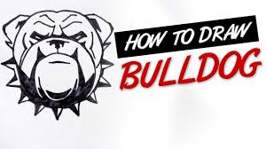 how to draw bulldog tribal design ep 146