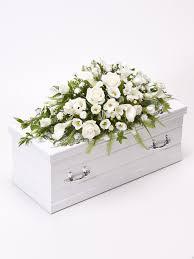 baby casket casket spray white