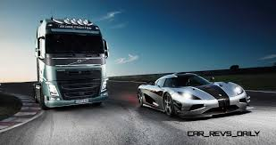 volvo truck 500 tiff needell volvo fh truck vs koenigsegg