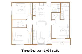 three bedroom apartment floor plan fujizaki