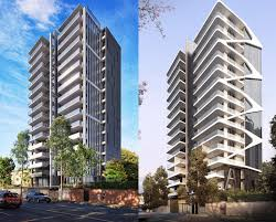 WMK Add Sinuous Facade Skeleton To Brisbane Apartments In Amended - Apartment facade design