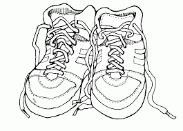 tennis shoe coloring page coloring pages for kids and for adults