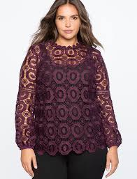 crochet blouses studio sleeve crochet lace blouse s plus size tops