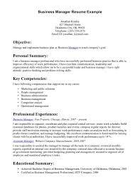 sample business resume 8 good nardellidesign com