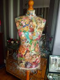 Victorian Decoupaged Mannequin Decorated by LeCraftAChristine
