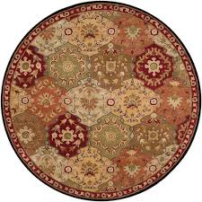 Best Store To Buy Area Rugs by Grund Mandala Knowledge Of Self Series Red 4 Ft X 4 Ft Round