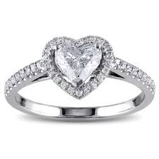 diamond heart ring heart diamond rings for less overstock