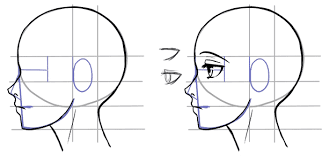 how to draw the side of a face in manga style manga tuts