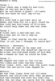 christian childrens song naaman s song lyrics