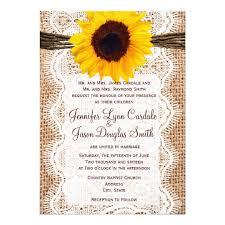 rustic burlap lace twine sunflower wedding invites zazzle - Sunflower Wedding Invitations