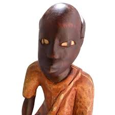 folk haitian wood carving statue from jacmel primping your home