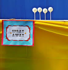 backyard carnival game spray away drew u0027s 6th birthday carnival