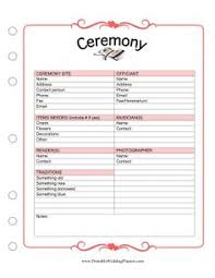 Resume For Wedding Planner The Wedding Planner Schedule Worksheet Is A Detailed Template And