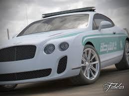 bentley dubai bentley continental ss dubai police std mat 3d model rigged max