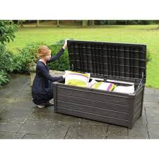 keter xl rattan style garden storage box modern patio u0026 outdoor