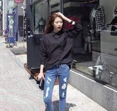 bong dep cho nu áo sơ mi nữ tay bồng đẹp hàn quốc cho nàng dạo phố mùa hè 2016