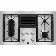 Design Ideas For Gas Cooktop With Downdraft Kitchen Tile Backsplash Design With 36 Inch Gas Cooktops For