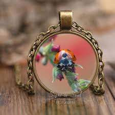 jewelry lady necklace images Orange ladybug necklace photo jewelry lady bug lover gifts jpg