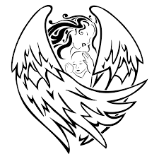 tattoo of angel and baby birth protection love tattoo custom