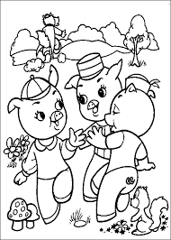 3 pigs colouring pictures cartoon pigs