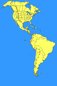 Pan American Flag Map
