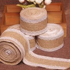 aliexpress com buy 2meters natural jute burlap hessian ribbon