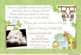 baby boy safari shower invitation monkeys blue style