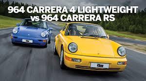 porsche 964 rs porsche 964 carrera rs vs 964 carrera 4 lightweight youtube