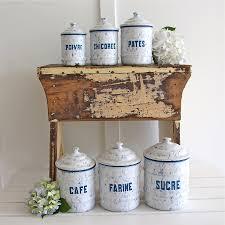 enamel kitchen canisters vintage enamel canister set