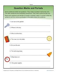 question marks and periods ending punctuation worksheet