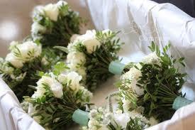 Blue Wedding Bouquets Coworth Park Wedding Flowers Beautiful Ivory U0026 Tiffany Blue Theme