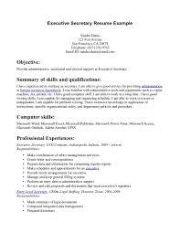 career summary for administrative assistant resume resume objective for executive assistant effective objective in cover page for resume samples administrative assistant executive assistant cover letter resume genius administrative assistant executive
