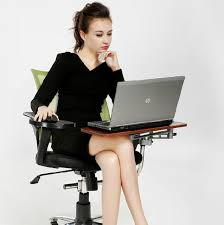 Laptop Chair Desk Multifunctoinal Motion Keyboard Mouse Tray Chair Cling