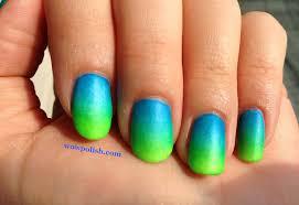 blue green nail polish colors blue to green matte gradient nail
