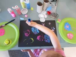 circle print art craft ideas for kids printing pictures for kids
