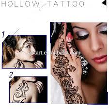 reusable indian mehndi flower lace sandblast airbrush henna design
