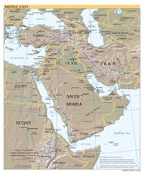 East Asia Political Map Large Scale Political Map Of The Middle East With Relief Major