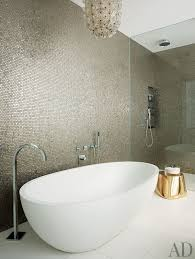 Bathroom Mosaic Tile Designs by Interiors David Mann Adds Luster And Light To A Manhattan Duplex