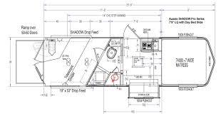 horse trailer living quarter floor plans shadow trailers inner
