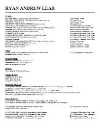Example Acting Resume by Keira Knightley Actor Resume Resume Template For Acting Free