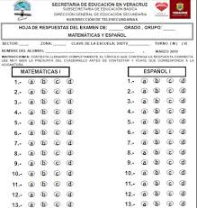 examen de 5 grado con respuestas zona 31 telesecundarias